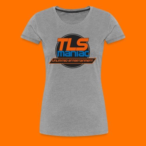 TLS Maniac Logo With Transparent Outline - Women's Premium T-Shirt