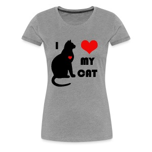 I love my cat - T-shirt Premium Femme