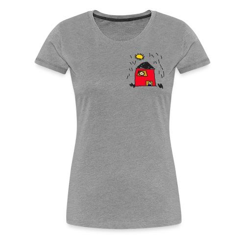Kindergekritzel bunt - Frauen Premium T-Shirt