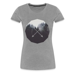 Misty Forest Blended With Crossed Arrows - Maglietta Premium da donna