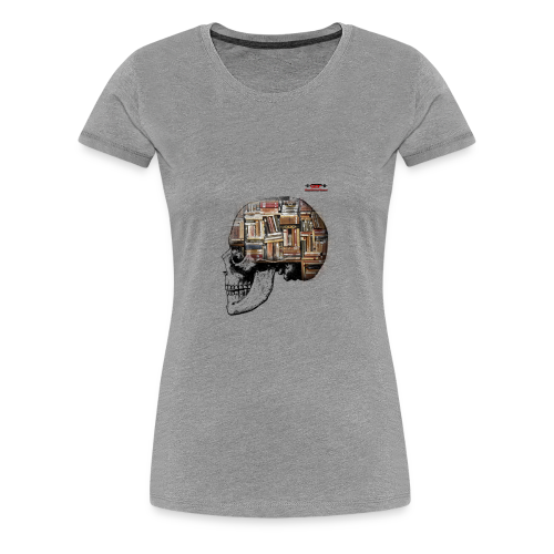 GSF MIND FULL OF BOOKS DESIGN - Frauen Premium T-Shirt