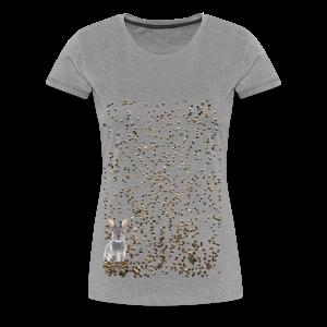 rabbit droppings mogosop - Vrouwen Premium T-shirt