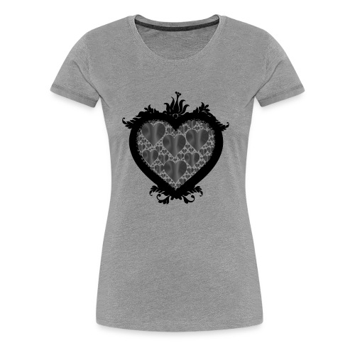 serce ramka - Koszulka damska Premium