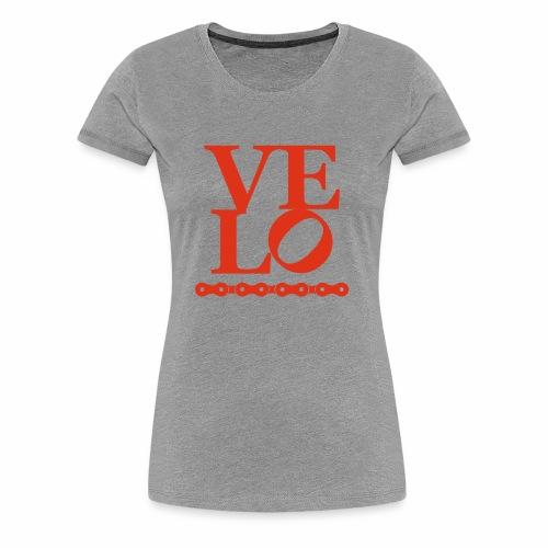 Bike Velo Love Fahrrad-Liebe - Frauen Premium T-Shirt