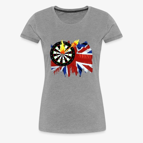Burning Dart - Frauen Premium T-Shirt