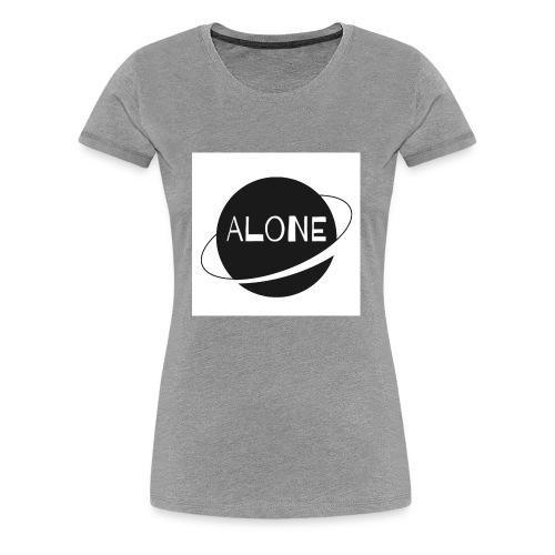 Alone planet white background - Women's Premium T-Shirt