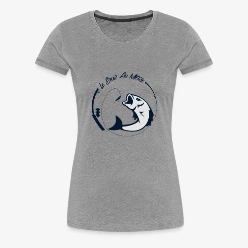 logo le bar au metre fond transparent - T-shirt Premium Femme