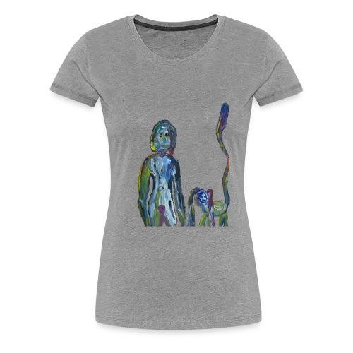 la dame et son animal domestique - T-shirt Premium Femme