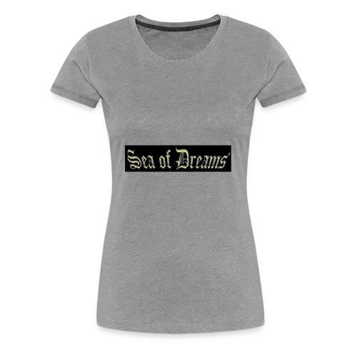 SEA OF DREAMS BLACK BACKGROUND - Premium T-skjorte for kvinner