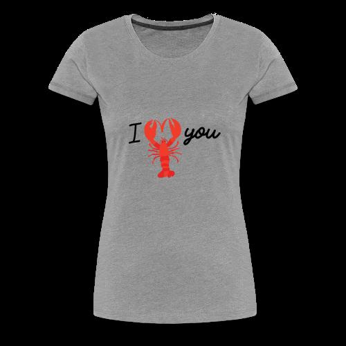 I LOVE YOU Hummer Scheren Herz - Frauen Premium T-Shirt