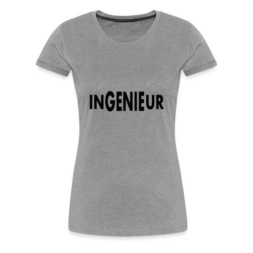 lustiges T-Shirt ein Ingenieur ist ein Genie - Frauen Premium T-Shirt