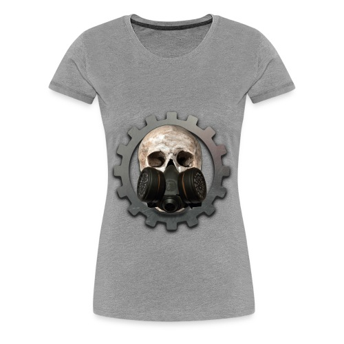 EBM - ELECTRONIC BODY MUSIC DEATH HEAD RESPIRATOR - Women's Premium T-Shirt
