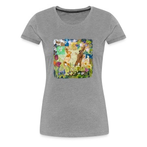 Boxing Hares Design - Women's Premium T-Shirt