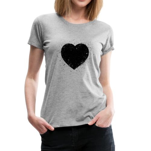 Black Heart Grunge - Frauen Premium T-Shirt