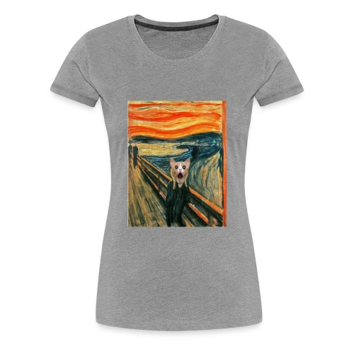 cat scream - T-shirt Premium Femme