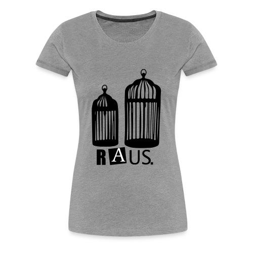 Goldener Käfig - Frauen Premium T-Shirt