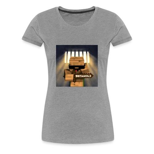 mein YouTube profielBild mit dem Getto Holz im Kna - Frauen Premium T-Shirt