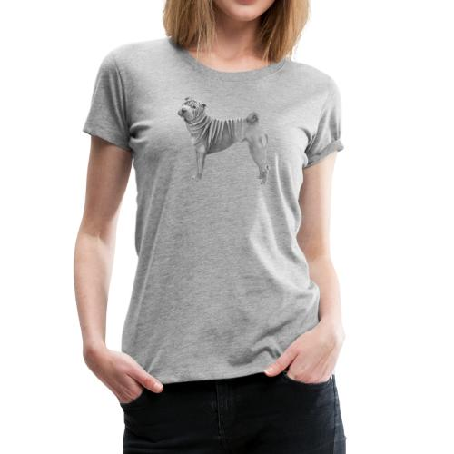 shar pei - Dame premium T-shirt