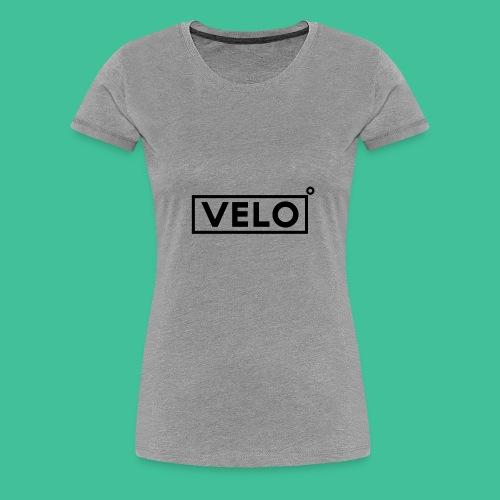 Velo Icon Blk - Long Sleeve Baseball Shirt W/N Clr - Women's Premium T-Shirt
