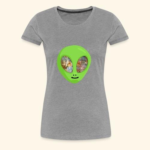 Alien hoofd 1 - Vrouwen Premium T-shirt