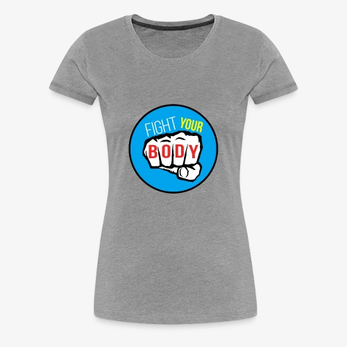 logo fyb bleu ciel - T-shirt Premium Femme