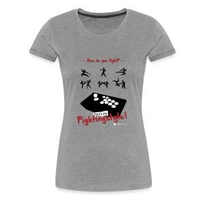 Fightingstyle white V2 - Frauen Premium T-Shirt