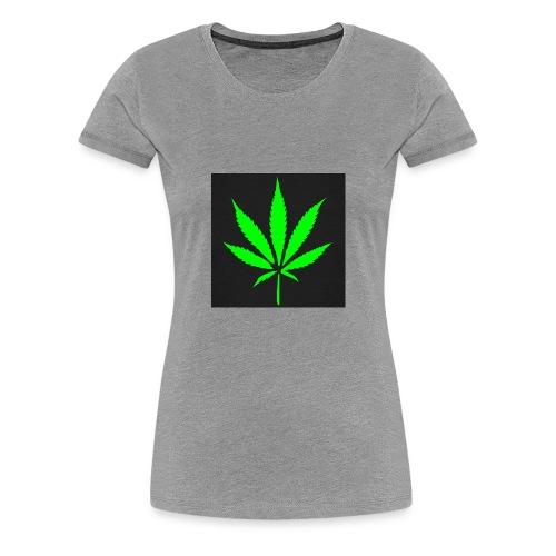 schwarz cannabis marihuana hanf t shirt maenner t - Frauen Premium T-Shirt