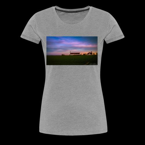 Kirche im Sonnenuntergang - Frauen Premium T-Shirt