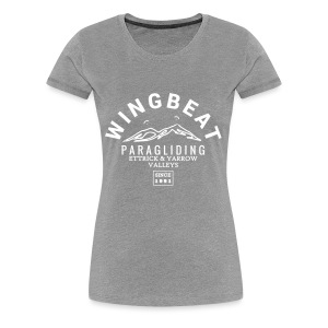 wingbeat logo - big - on back - in white - Women's Premium T-Shirt
