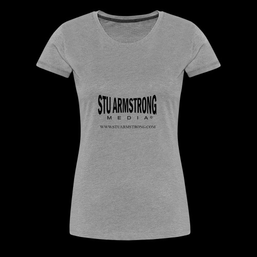 Stu Armstrong Media Black Logo - Women's Premium T-Shirt