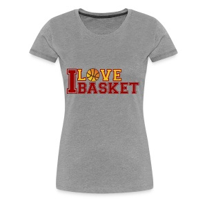 Love-basketbal - Vrouwen Premium T-shirt