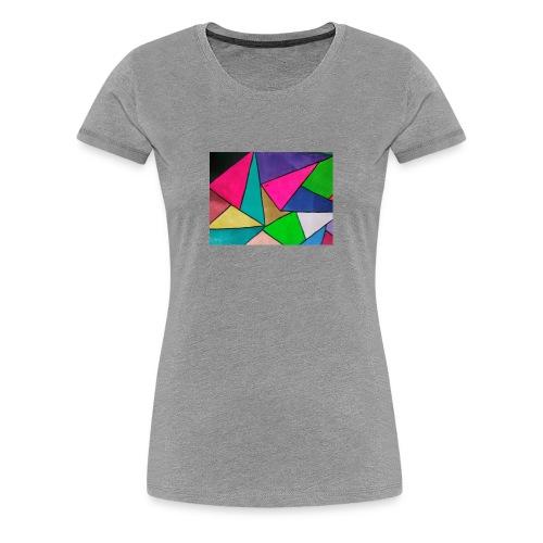 TRIANGULOS COLORIDOS - Camiseta premium mujer