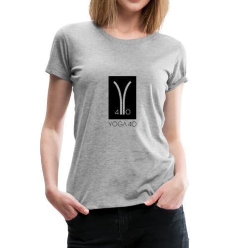Y40 logotipo negro - Camiseta premium mujer