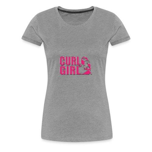 CURL GIRL chorme - Frauen Premium T-Shirt