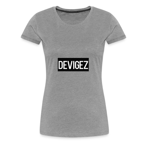 devigez black - Premium-T-shirt dam