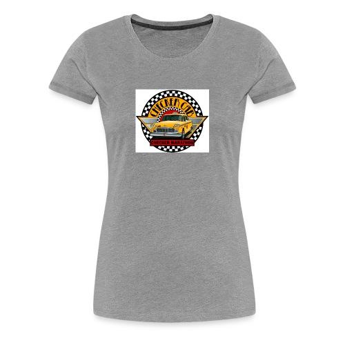 checker logo maraton - Premium-T-shirt dam