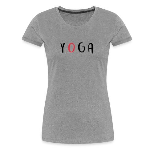 Aufschrift YOGA - Frauen Premium T-Shirt