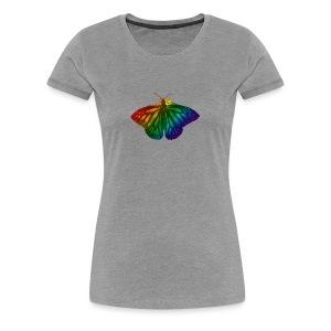 Regenboog vlinder - Freedom, Love en Happiness - Vrouwen Premium T-shirt