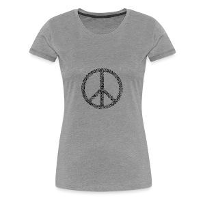 PEACE statement design - Frauen Premium T-Shirt