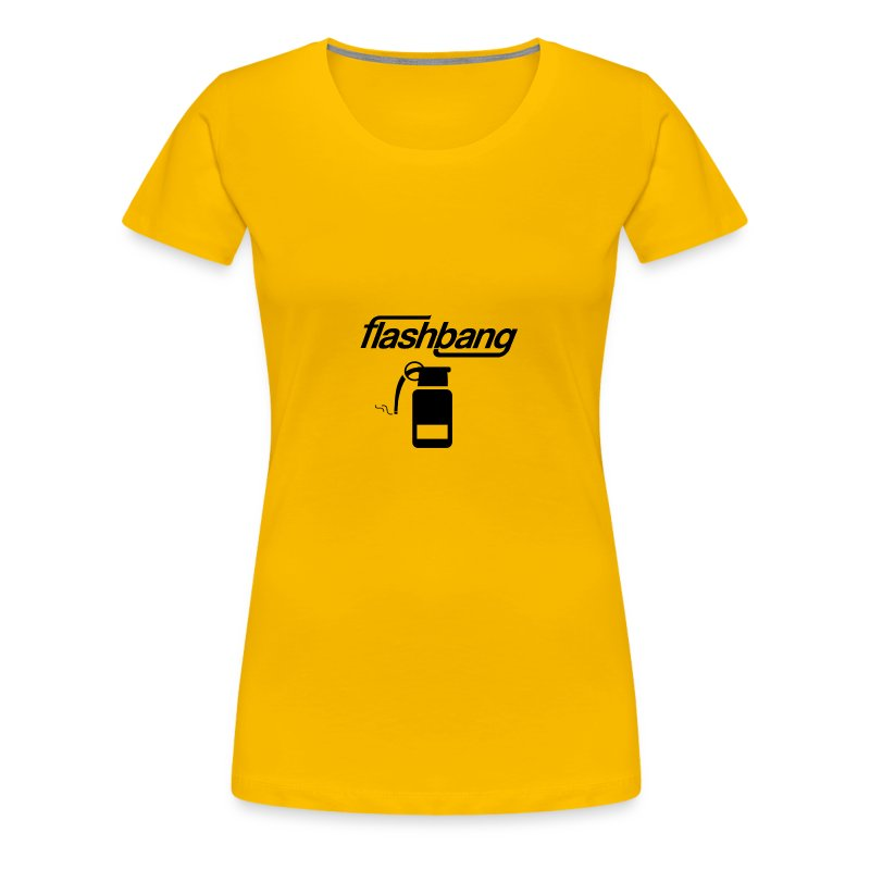 FlashBang Logga - 50kr Donation - Premium-T-shirt dam