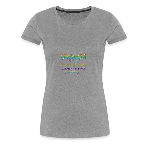 Olejor94 sover snorken English - Premium T-skjorte for kvinner