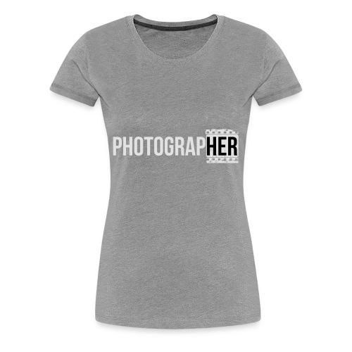 Photographing-her - Women's Premium T-Shirt