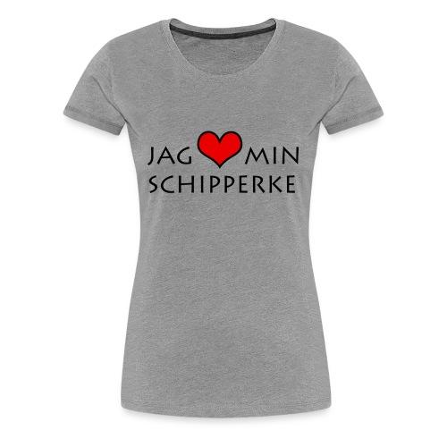 Jag älskar min schipperke herr - Premium-T-shirt dam