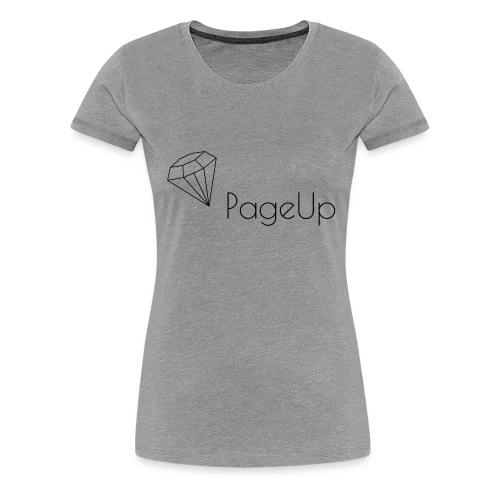 Snapback with PageUp Diamond - Women's Premium T-Shirt