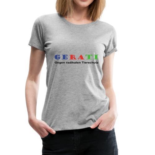 GERATI Logo Farbe - Frauen Premium T-Shirt