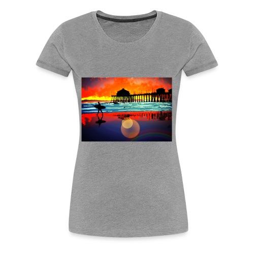 plage soleil couchant - T-shirt Premium Femme