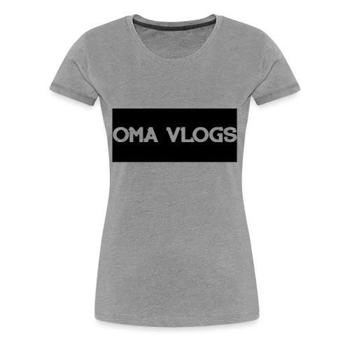 Oma Vlogs Black Logo - Women's Premium T-Shirt