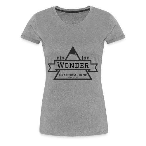 Wonder hoodie no hat - Mountain logo - Dame premium T-shirt