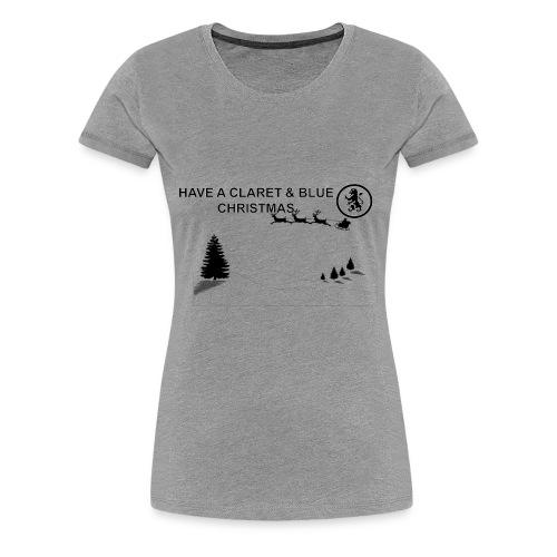 Claret and Blue Xmas - Women's Premium T-Shirt