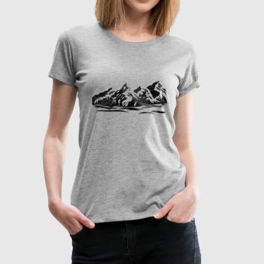 Vuori lahja retkeilijöille vaellus loma vuorilla vuoristo - Naisten premium t-paita